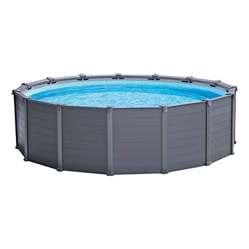 Intex 26384NP - Piscina desmontable graphite grey panel - 478x124 cm, 16 500 litros